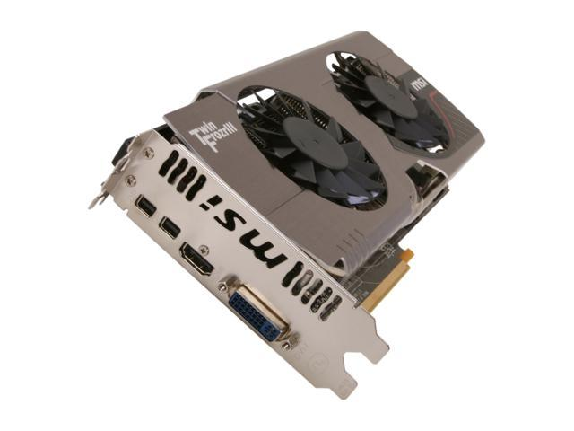 MSI Radeon HD 7870 GHz Edition DirectX 11 R7870 Twin Frozr 2GD5/OC 2GB 256-Bit GDDR5 PCI Express 3.0 x16 HDCP Ready CrossFireX Support Video Card