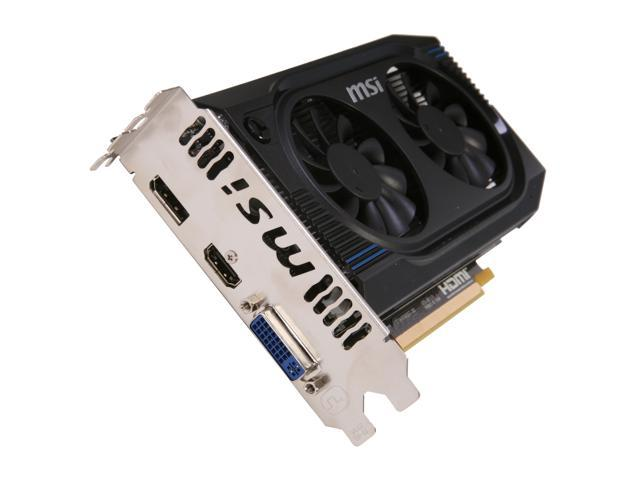 MSI Radeon HD 7750 DirectX 11 R7750-PMD1GD5/OC 1GB 128-Bit GDDR5 PCI Express 3.0 x16 HDCP Ready Video Card