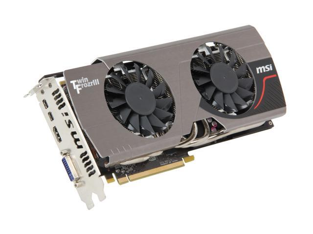 MSI Radeon HD 7950 DirectX 11 R7950 Twin Frozr 3GD5/OC Video Card