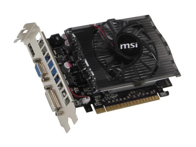 MSI GeForce GT 430 (Fermi) DirectX 11 N430GT-MD4GD3 4GB 128-Bit DDR3 PCI Express 2.0 x16 HDCP Ready Video Card