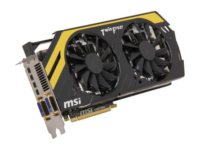 MSI Radeon HD 7970 DirectX 11 R7970 Lightning 3GB 384-Bit GDDR5 PCI Express 3.0 x16 HDCP Ready CrossFireX Support Video Card