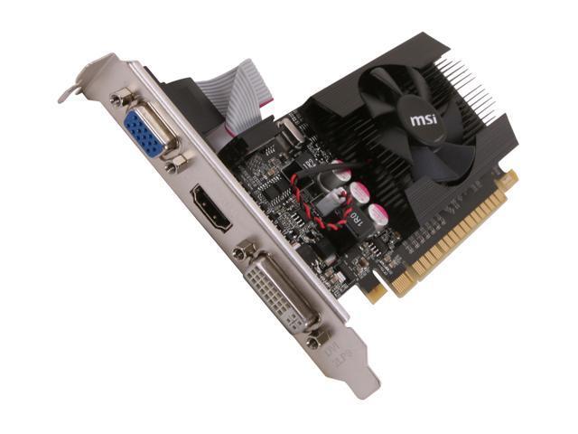 MSI GeForce GT 610 DirectX 11 N610GT-MD1GD3/LP Video Card