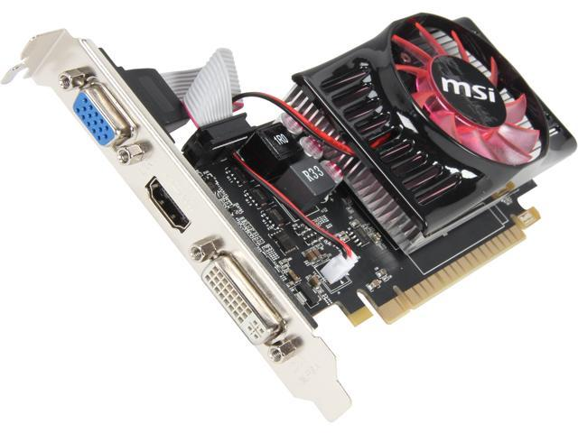 MSI GeForce GT 630 DirectX 11.1 N630-1GD3/LP Video Card