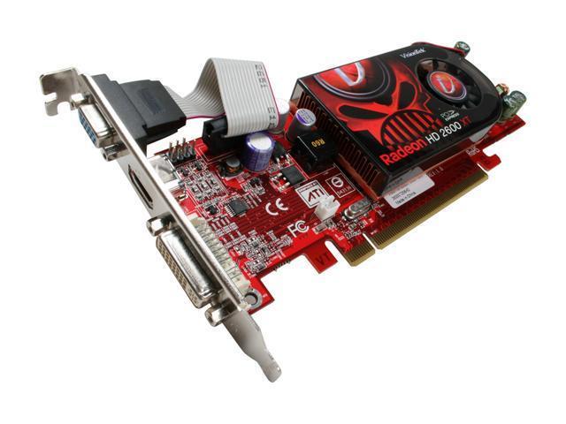 VisionTek Radeon HD 2600XT DirectX 10 900197 256MB 128-Bit PCI Express x16 HDCP Ready Low Profile Video Card