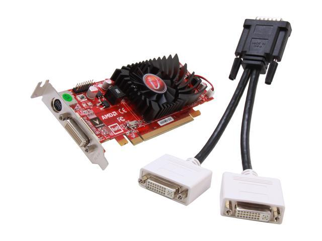 Visiontek Radeon 4550 SFF 512MB DDR3 (2 x DVI-I, TV Out) w/ 2 x DVI-I to VGA Adapter