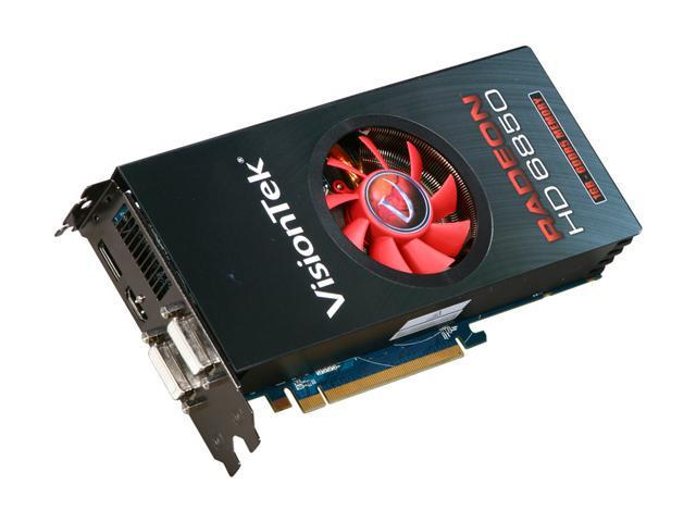 VisionTek Radeon HD 6850 DirectX 11 900339 1GB 256-Bit GDDR5 PCI Express 2.1 x16 HDCP Ready CrossFireX Support Video Card with Eyefinity