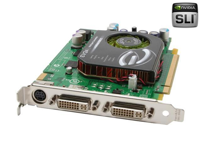 EVGA GeForce 7600GT DirectX 9 256-P2-N553-AX 256MB 128-Bit GDDR3 PCI Express x16 SLI Support Video Card