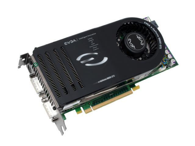 EVGA 640-P2-N828-A1 GeForce 8800GTS KO 640MB 320-bit GDDR3 PCI Express x16 HDCP Ready SLI Supported Video Card