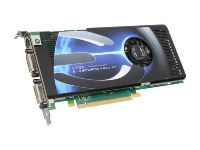 EVGA GeForce 8800 GT DirectX 10 512-P3-N801-AR 512MB 256-Bit GDDR3 PCI Express 2.0 x16 HDCP Ready SLI Support Video Card