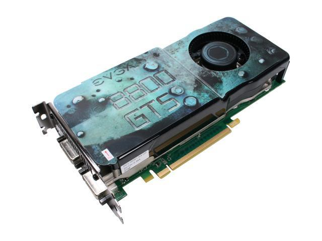 EVGA GeForce 8800GTS (G92) DirectX 10 512-P3-N841-AR Video Card