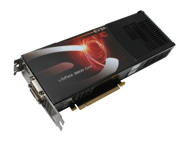 EVGA GeForce 9800 GX2 DirectX 10 01G-P3-N891-AR Video Card