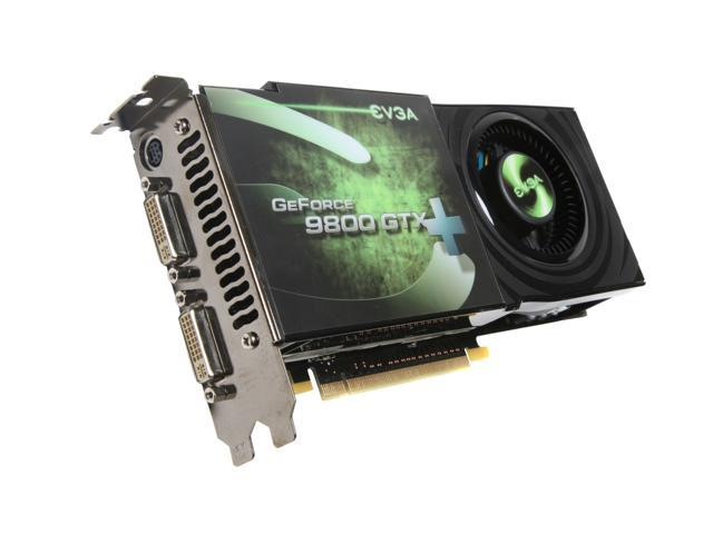 EVGA GeForce 9800 GTX+ DirectX 10 512-P3-N871-AR 512MB 256-Bit DDR3 PCI Express 2.0 x16 HDCP Ready SLI Support Video Card