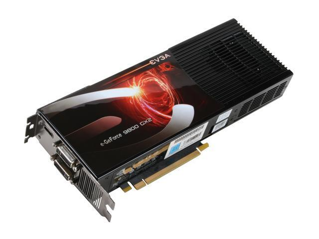 EVGA GeForce 9 Series SuperClocked GeForce 9800 GX2 DirectX 10 01G-P3-N892-AR Video Card