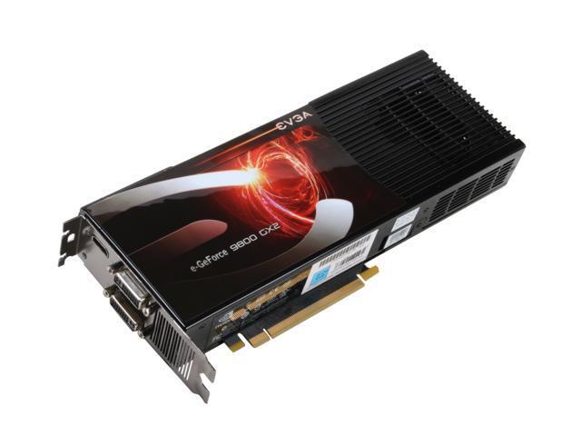 EVGA GeForce 9800 GX2 DirectX 10 01G-P3-N897-AR Video Card