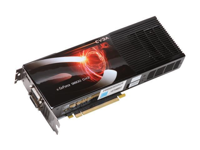 EVGA GeForce 9800 GX2 DirectX 10 01G-P3-N895-A3 Video Card