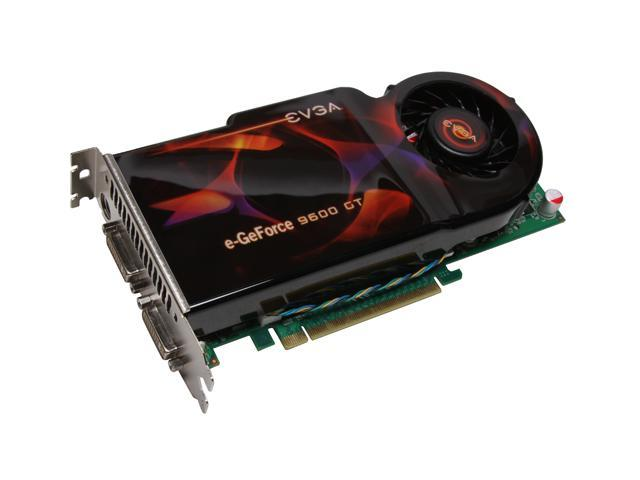 EVGA GeForce 9600 GT DirectX 10 512-P3-N860-TR 512MB 256-Bit GDDR3 PCI Express 2.0 x16 HDCP Ready SLI Support Video Card