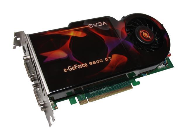 EVGA GeForce 9600 GT DirectX 10 01G-P3-N870-AR 1GB 256-Bit GDDR3 PCI Express 2.0 x16 HDCP Ready SLI Support Video Card