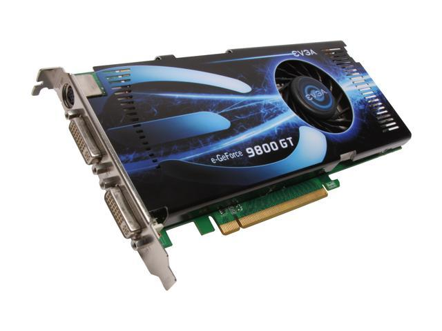 EVGA GeForce 9800 GT DirectX 10 512-P3-N975-AR 512MB 256-Bit GDDR3 PCI Express 2.0 x16 HDCP Ready SLI Support Video Card