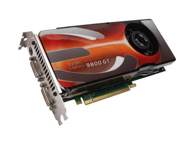 EVGA GeForce 9800 GT DirectX 10 01G-P3-N983-AR Video Card