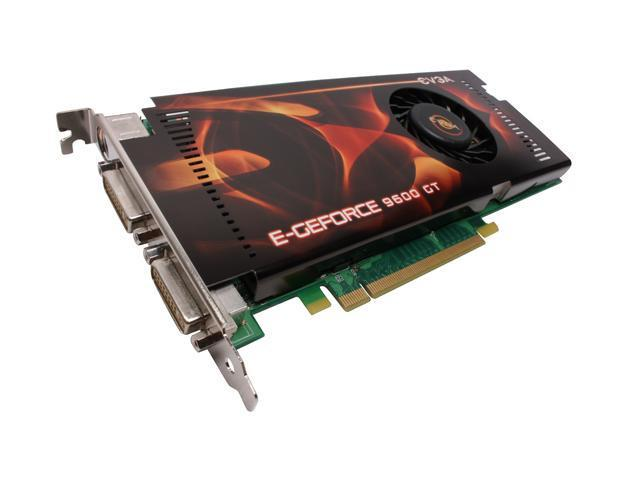 EVGA GeForce 9600 GT DirectX 10 512-P3-N861-TR 512MB 256-Bit GDDR3 PCI Express 2.0 x16 HDCP Ready SLI Support Video Card