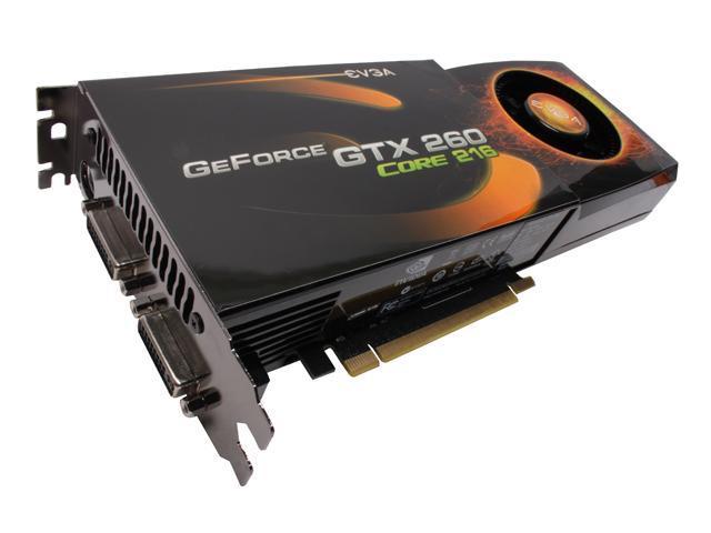 EVGA 896-P3-1265-AR GeForce GTX 260 Core 216 896MB 448-bit GDDR3 PCI Express 2.0 x16 HDCP Ready SLI Supported Video Card
