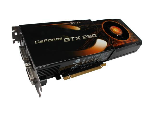 EVGA GeForce GTX 280 DirectX 10 01G-P3-1280-RX 1GB 512-Bit GDDR3 PCI Express 2.0 x16 HDCP Ready SLI Support Video Card