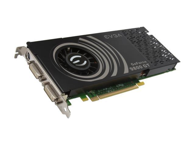 EVGA GeForce 9800 GT DirectX 10 01G-P3-N981-TR 1GB 256-Bit DDR3 PCI Express 2.0 x16 HDCP Ready SLI Support Video Card