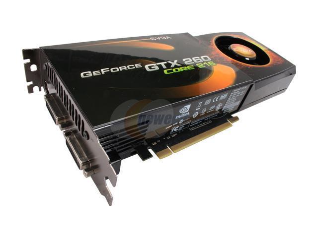 EVGA 896-P3-1265-RX GeForce GTX 260 Core 216 896MB 448-bit GDDR3 PCI Express 2.0 x16 HDCP Ready Video Card