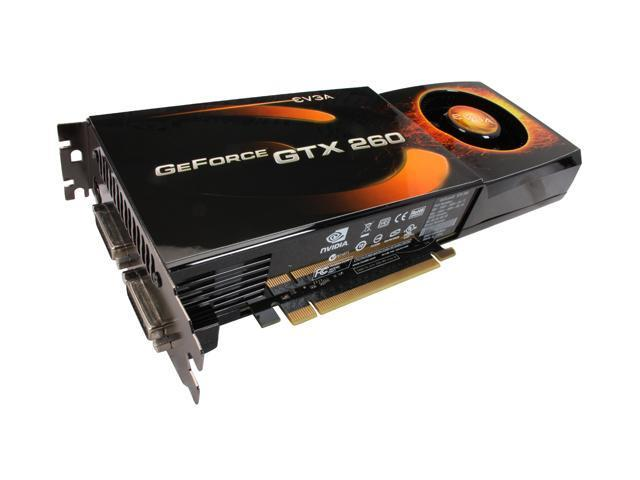 EVGA GeForce GTX 260 DirectX 10 896-P3-1260-TR 896MB 448-Bit GDDR3 PCI Express 2.0 x16 HDCP Ready SLI Support Video Card