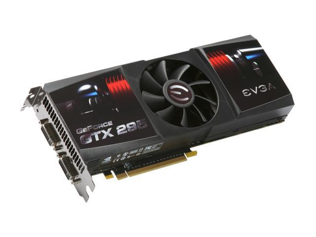 EVGA 017-P3-1298-AR GeForce GTX 295 FTW Edition 1792MB 896 (448 x 2)-bit DDR3 PCI Express 2.0 x16 HDCP Ready SLI Supported Video Card