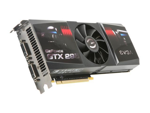 EVGA GeForce GTX 295 DirectX 10 017-P3-1295-RX 1792MB 896 (448 x 2)-Bit DDR3 PCI Express 2.0 x16 HDCP Ready SLI Support Video Card