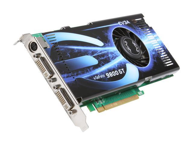 EVGA GeForce 9800 GT DirectX 10 512-P3-N975-TR 512MB 256-Bit DDR3 PCI Express 2.0 x16 HDCP Ready SLI Support Video Card