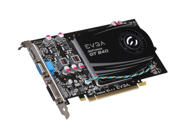 EVGA GeForce GT 240 DirectX 10.1 512-P3-1241-LR 512MB 128-Bit GDDR5 PCI Express 2.0 x16 HDCP Ready Video Card
