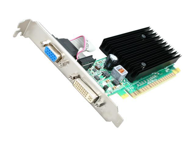 EVGA GeForce 8400 GS DirectX 10 512-P3-N725-LR 512MB 64-Bit DDR2 PCI Express 2.0 x16 HDCP Ready Video Card