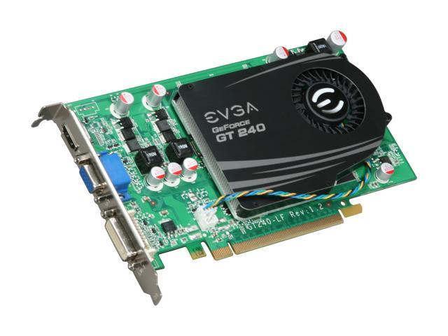 EVGA GeForce GT 240 DirectX 10.1 512-P3-1240-LR 512MB 128-Bit DDR5 PCI Express 2.0 x16 HDCP Ready Video Card