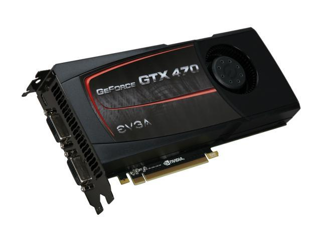 EVGA GeForce GTX 400 SuperClocked GeForce GTX 470 (Fermi) DirectX 11 012-P3-1472-AR Video Card