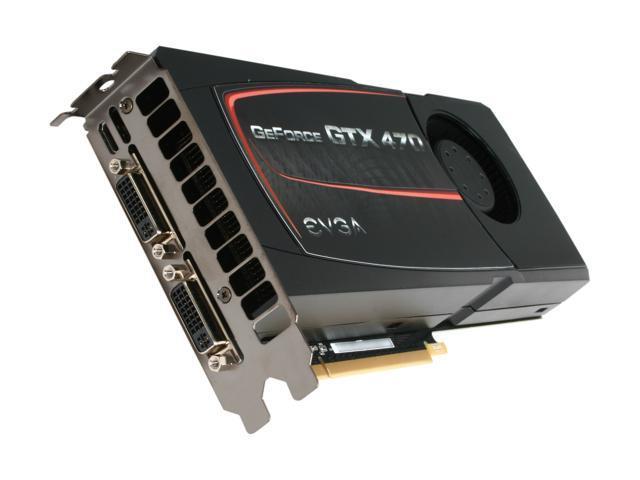 EVGA GeForce GTX 470 (Fermi) DirectX 11 012-P3-1470-AR Video Card