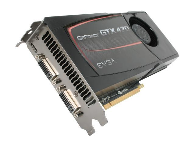 EVGA GeForce GTX 470 (Fermi) DirectX 11 012-P3-1470-RX Video Card