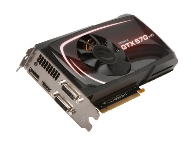 EVGA GeForce GTX 500 SuperClocked GeForce GTX 570 (Fermi) DirectX 11 012-P3-1573-KR Video Card