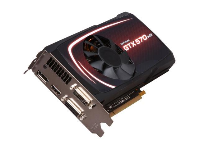 EVGA GeForce GTX 500 SuperClocked GeForce GTX 570 (Fermi) DirectX 11 012-P3-1573-AR Video Card