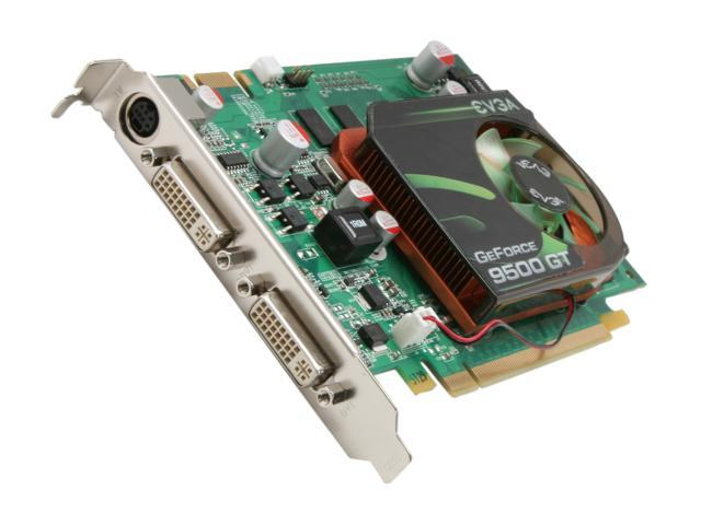 EVGA GeForce 9500 GT DirectX 10 01G-P3-N959-RX 1GB 128-Bit DDR2 PCI Express 2.0 x16 HDCP Ready SLI Support Video Card