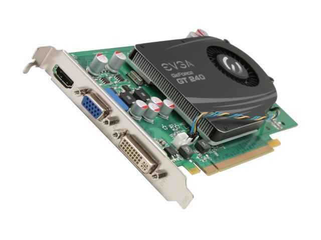 EVGA GeForce GT 240 DirectX 10.1 01G-P3-1246-RX 1GB 128-Bit GDDR5 PCI Express 2.0 x16 HDCP Ready Video Card