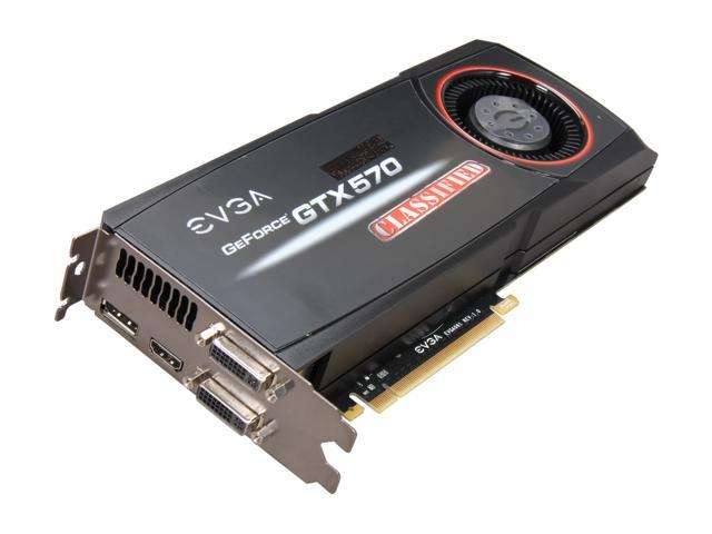 EVGA 012-P3-1578-AR GeForce GTX 570 (Fermi) Classified 1280MB 320-bit GDDR5 PCI Express 2.0 x16 HDCP Ready SLI Support Video Card