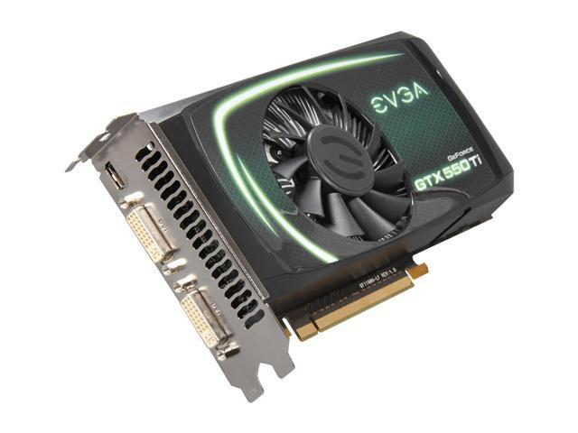 EVGA GeForce GTX 550 Ti (Fermi) DirectX 11 01G-P3-1556-RX Video Card