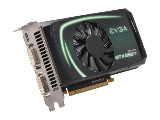 EVGA SuperClocked 01G-P3-1557-RX GeForce GTX 550 Ti (Fermi) 1GB 192-bit GDDR5 PCI Express 2.0 x16 HDCP Ready SLI Support Video Card