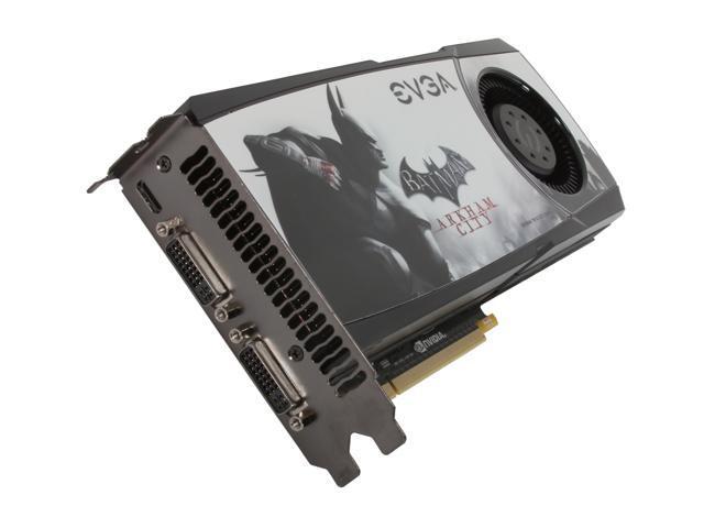EVGA 015-P3-1582-A1 GeForce GTX 580 (Fermi) Superclocked Batman Arkham City Edition 1536MB 384-bit GDDR5 PCI Express 2.0 x16 HDCP Ready SLI Support Video Card