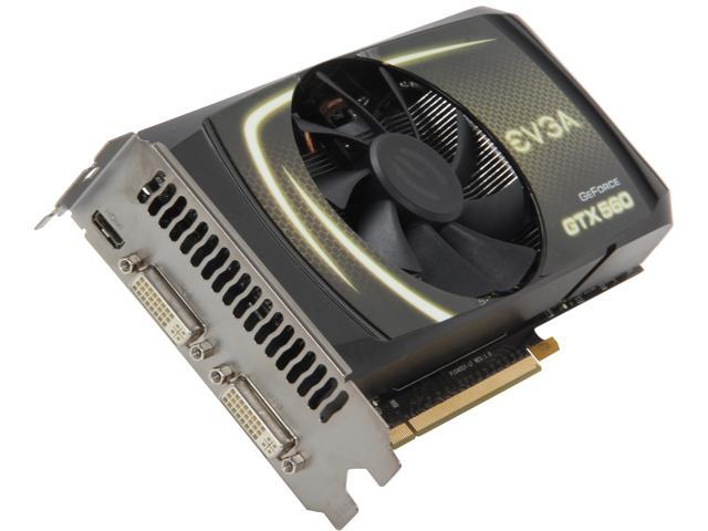 EVGA GeForce GTX 560 (Fermi) DirectX 11 01G-P3-1460-RX 1GB 256-Bit GDDR5 PCI Express 2.0 x16 HDCP Ready SLI Support Video Card