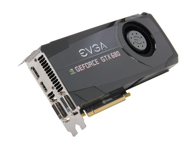 EVGA GeForce GTX 680 DirectX 11 02G-P4-2680-KR 2GB 256-Bit GDDR5 PCI Express 3.0 x16 HDCP Ready SLI Support Video Card