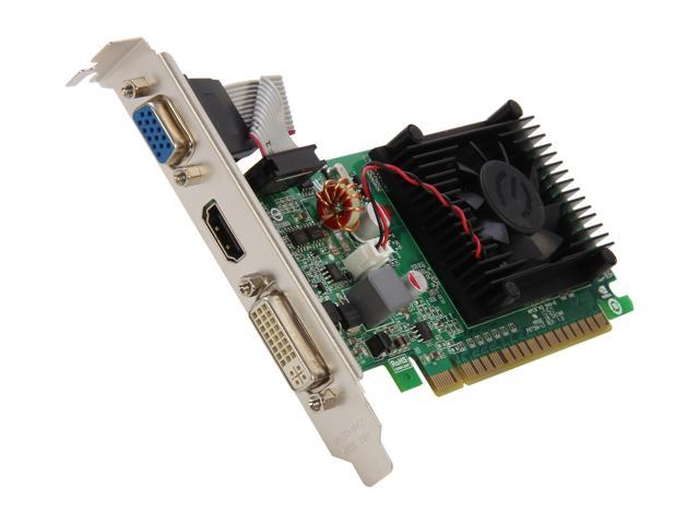 EVGA GeForce 8400 GS DirectX 10 512-P3-1300-RX 512MB 32-Bit DDR3 PCI Express 2.0 x16 HDCP Ready Video Card