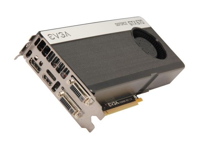 EVGA GeForce GTX 670 DirectX 11 02G-P4-2670-RX Video Card